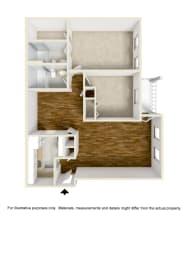 Floor Plan 2 Bed - 2 Bath