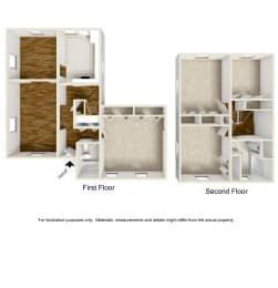 Floor Plan 4 Bed Townhouse