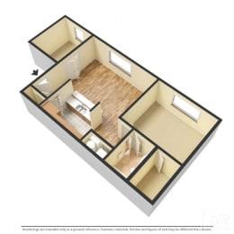 Floor Plan Fairfax - 1 Bedroom with Den