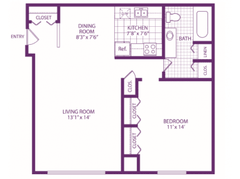 Floor Plan One Bedroom, opens a dialog