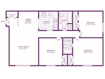 Floor Plan Three Bedroom, opens a dialog