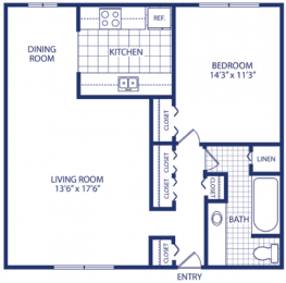 Floor Plan One Bedroom (A, B, C), opens a dialog