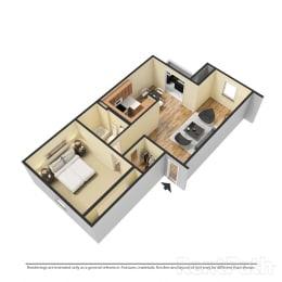 1 Bedroom Garden Available  at Lake Marina Apartments, Indianapolis, Indiana