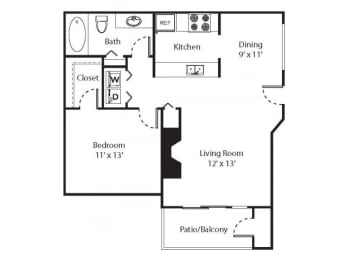 1 x 1 Floorplan at Riverwalk at Happy Valley, Oregon