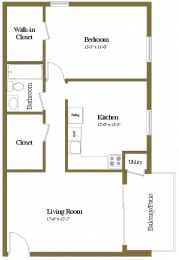 Floor Plan Studio 1 Bath, opens a dialog