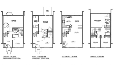 4 bedroom floor plan at The Pointe at Manorgreen in Middle River, MD