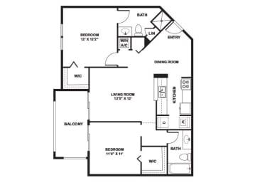 Begonia - 2 Bedrooms 2 Baths - 1,001 Sq. Ft.