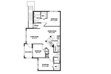 Carnation - 3 Bedrooms 2 Baths 1,238 Sq. Ft.