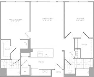 B1 Floor Plan at AVE Emeryville at Bay Street, California