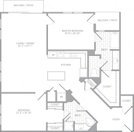 B4 Floor Plan at AVE Emeryville at Bay Street, Emeryville, CA