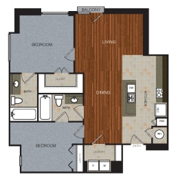 D7 Floor Plan at Berkshire Riverview, Austin, Texas