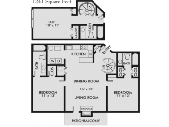 Floor Plan Palmetto 3-3