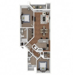 Zoom of The Serena floor plan at Legends at Rancho Belago, CA, 92553