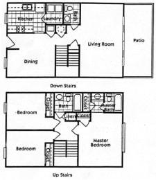 Floor Plan Ph 1 3Br Th