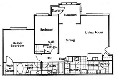 Floor Plan Phase 2 2Br2Ba