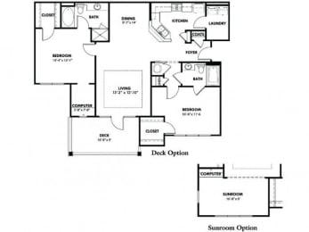 Floor Plan B1 With Deck Option