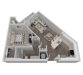 One Bedroom Floor Plan l Waterfront at the Marina in Sparks NV