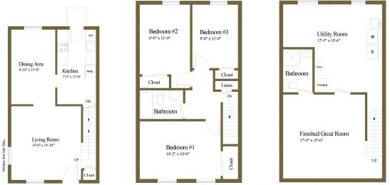Floor Plan 3 Bedroom 2 Bathroom, opens a dialog