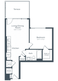 A1 Floor Plan at Highgate at the Mile, Virginia, 22102