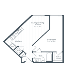 A3 Floor Plan at Highgate at the Mile, McLean, VA