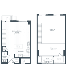 AL5 Floor Plan at Highgate at the Mile, McLean, 22102