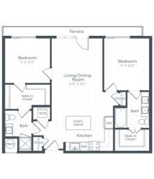 B2 Floor Plan at Highgate at the Mile, Virginia