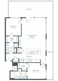 B6 Floor Plan at Highgate at the Mile, McLean, Virginia