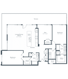 BD10 Floor Plan at Highgate at the Mile, McLean, VA, 22102