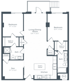 BD4 Floor Plan at Highgate at the Mile, McLean
