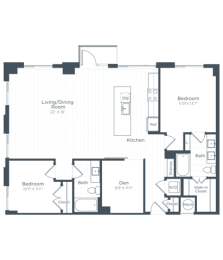 BD5 Floor Plan at Highgate at the Mile, Virginia