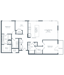 BD6 Floor Plan at Highgate at the Mile, Virginia, 22102