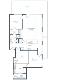 BD7 Floor Plan at Highgate at the Mile, McLean, VA, 22102