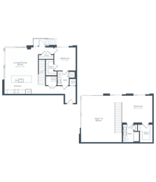 BL2 Floor Plan at Highgate at the Mile, McLean