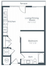 S4 Floor Plan at Highgate at the Mile, McLean
