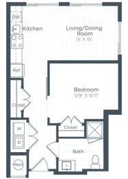 S5 Floor Plan at Highgate at the Mile, Virginia
