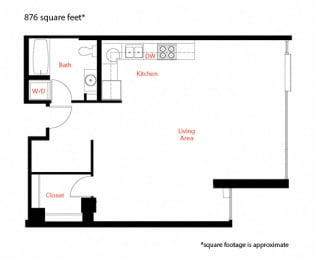 B-4 Floor Plan at Met Lofts, Los Angeles, CA