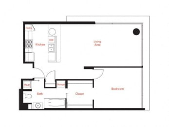 C-1 Floor Plan at Met Lofts, California, 90015
