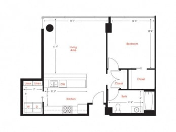 C-7 Floor Plan at Met Lofts, Los Angeles