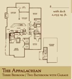 Floor Plan The Appalachian - Attached Garage