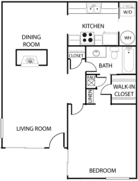 El Dorado Place one bedroom floor plan, opens a dialog