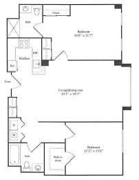 Floor Plan 1,090 sq. ft.