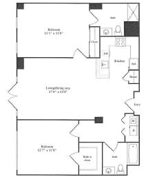 Floor Plan 1,096 sq. ft.