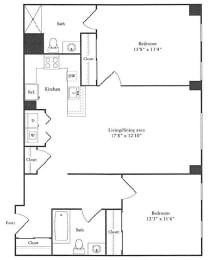 Floor Plan 1,097 sq. ft.