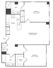 Floor Plan 1,107 sq. ft.