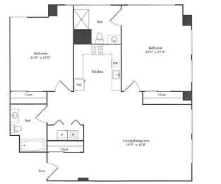 Floor Plan 1,115 sq. ft.