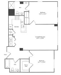 Floor Plan 1,131 sq. ft.