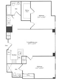 Floor Plan 1,155 sq. ft.
