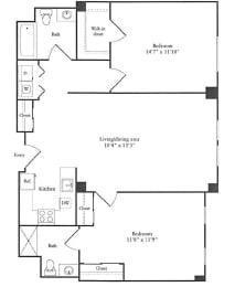 Floor Plan 1,173 sq. ft.