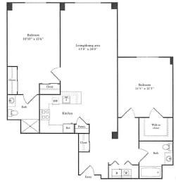 Floor Plan 1,216 sq. ft.