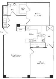 Floor Plan 1,237 sq. ft.